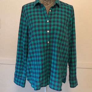J. Crew Cotton Button Down Plaid Shirt